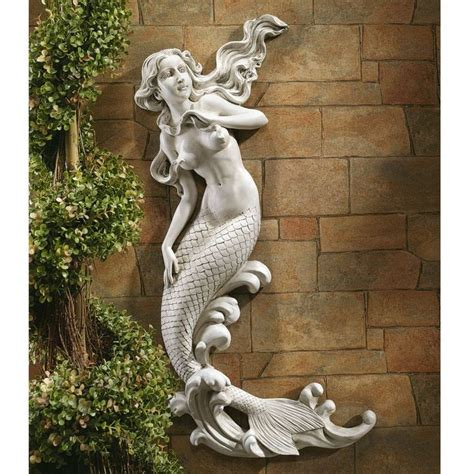 garden wall sculptures mermaid garden wall sculpture patio deck pool house