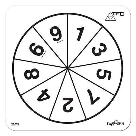 number 1 9 swap spin insert maths spinners product