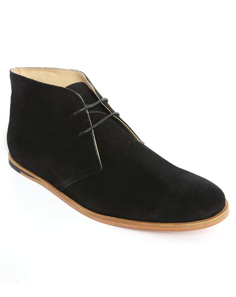 opening ceremony black suede desert boots shoes in black