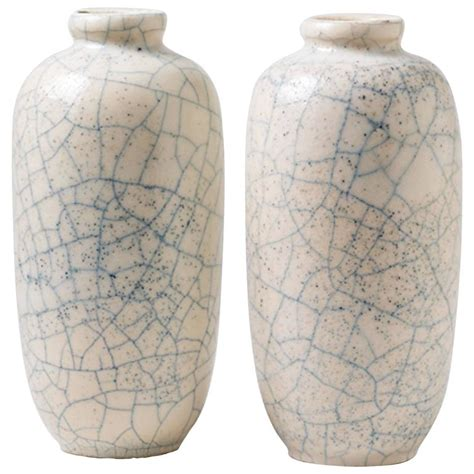 pair of ceramic vases by georges jaegle 1930 deco