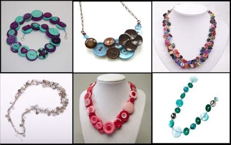 Kalung Fashion 402 cool diy accessories with buttons