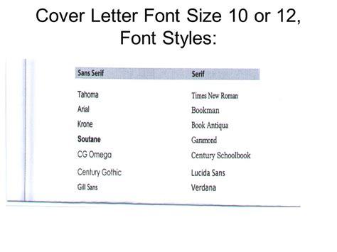 what font should a cover letter be warm up 10 8 08 open all the exle cover letters in the
