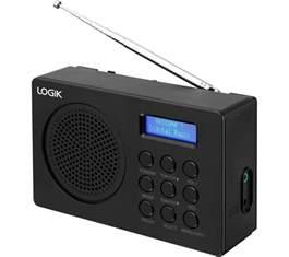 logik l2dab16 portable dab fm radio black deals pc world