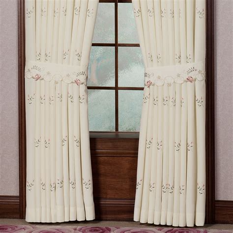 rose drapes bella rose embroidered curtains and valance