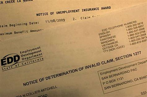 Edd Award Letter Before Stalled Upgrade Delays Unemployment Checks Sfgate