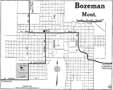 bozeman mt map montana maps perry casta 241 eda map collection ut library