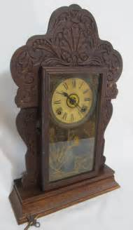antique sessions kitchen clock gingerbread mantle working