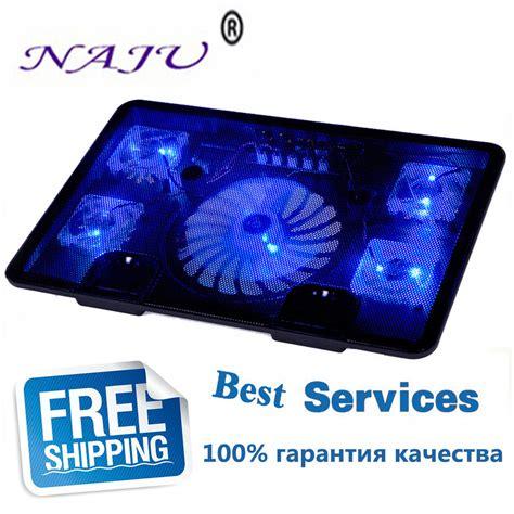 Notebook Cooler 2 Fan Kepiting na ju brand 5 fan 2 usb laptop cooler cooling pad base led notebook cooler computer usb fan