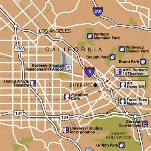 burbank map california bob airport airport maps maps and directions to