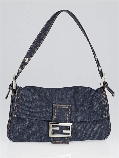 Fendi Mini Mamma Purse by Fendi Blue Denim Mini Baguette Bag Yoogi S Closet