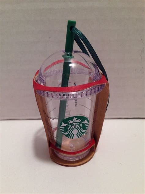 starbucks ornament 2015 christmas plastic to go cup with