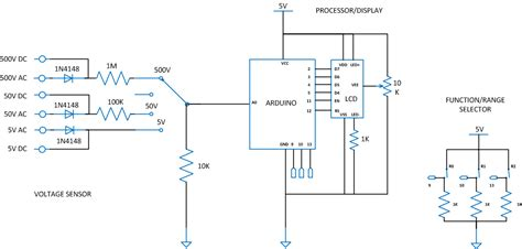 voltmeter in circuit diagram arduino voltmeter circuit diagram arduino free engine
