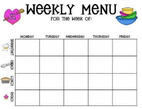weekly lunch menu template childcare menu plan template created with the childcare
