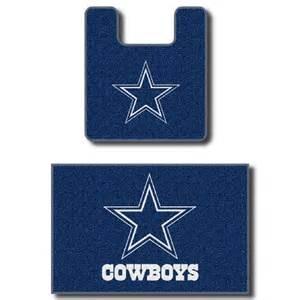 cowboys bathroom set dallas cowboys two bath rug set import it all