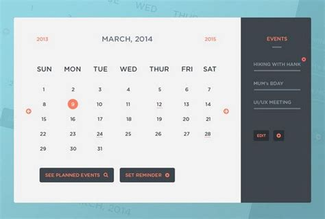calendar templates psd a clean collection of free psd icons html calendar