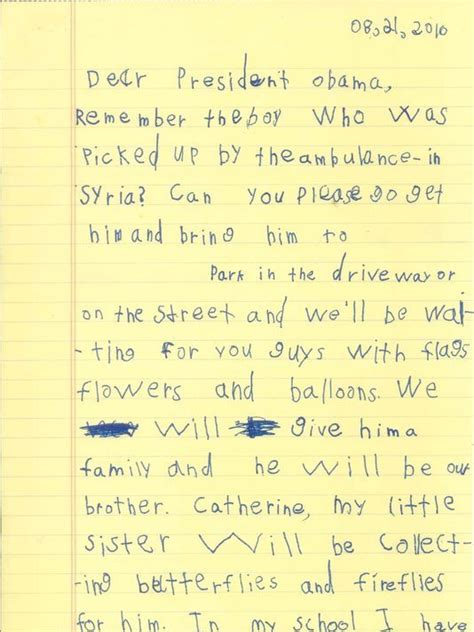 the president will see you now my stories and lessons from ronald s years books in handwritten letter 6 year tells obama syrian boy
