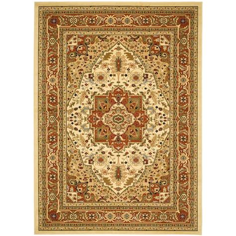 11 X 12 Area Rug Safavieh Lyndhurst Ivory Rust 8 Ft 11 In X 12 Ft Area Rug Lnh330r 9 The Home Depot