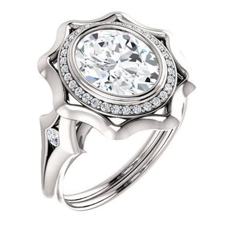 Piring Oval 10 Quot P0310 Golden engagement rings 2 0 ct oval ring 14k white gold