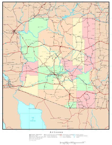maps of arizona arizona political map