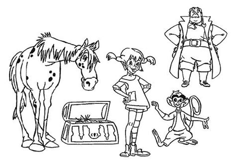 pippi longstocking all characters coloring pages bulk color