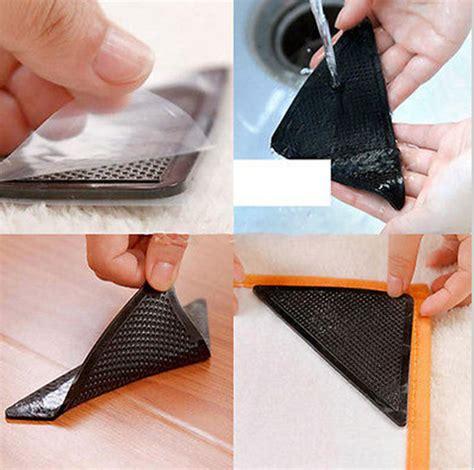 Grip Anti Slip Untuk Karpet 4pcs 4pcs set triangular non slip mats fixed carpet rug carpet mat grippers non slip skid silicone