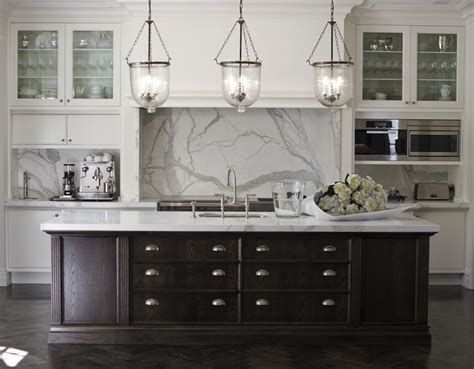 White Kitchen Cabinets With Dark Island Espresso Kitchen White And Espresso Kitchen Cabinets