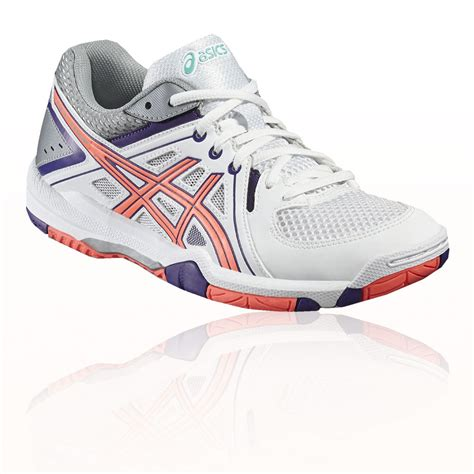 sports shoes asics asics gel task womens white pink indoor court squash