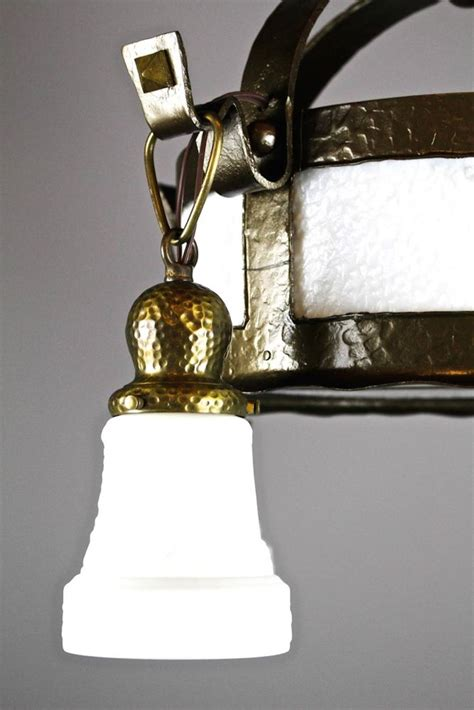 arts and crafts hand hammered fixture 4 light for sale