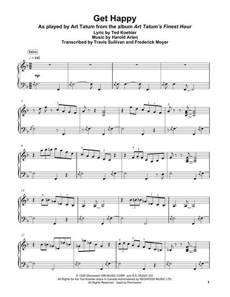 Get Happy Sheet Music | Harold Arlen | Piano Transcription
