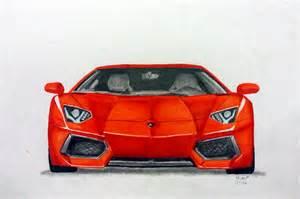 How To Draw The Front Of A Lamborghini Lamborghini Aventador Drawings In Pencil