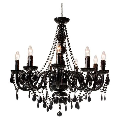 Black Chandeliers Uk Jet Black Nine Arm Chandelier From Heal S Shopping Trends Housetohome Co Uk