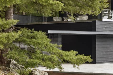 lake rosseau boathouse guest residence  akb architects
