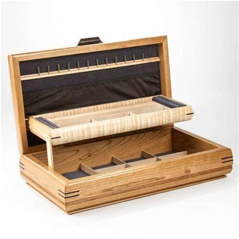 Wooden Jewelry Boxes Handmade - handmade wood jewelry box cherry and birdseye maple