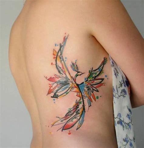 watercolor tattoo feder feder bedeutung und vorlagen