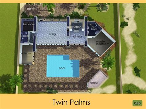 Twin Home Floor Plans qubedesign s frank sinatra s twin palms