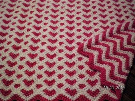 sweetheart reversible ripple afghan pattern ravelry bankerlady s sweetheart ripple afghan croche