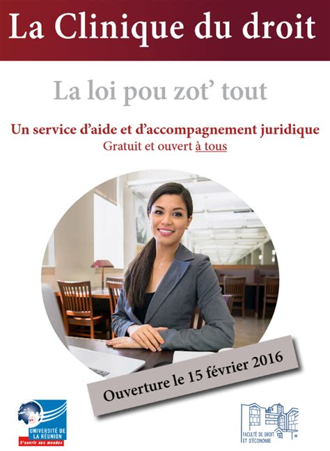 dispense universitarie gratis ouverture de la clinique du droit 224 la r 233 union