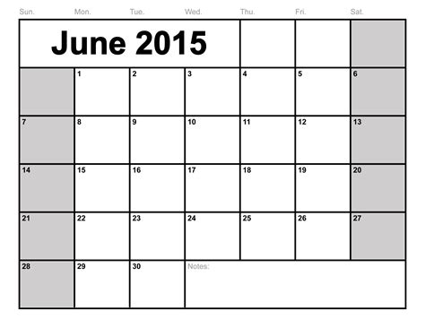 June 2014 Calendar Template by 6 Best Images Of Printable Blank Calendar Template Blank