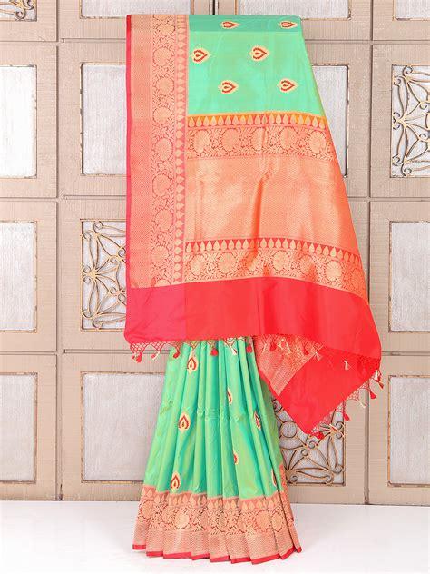 pista color pista green color silk saree for wedding g3 wsa26855