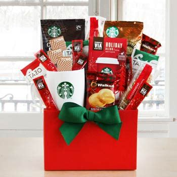 Starbucks Card Us Logo Gingerbread coffee gift baskets starbucks coffee box
