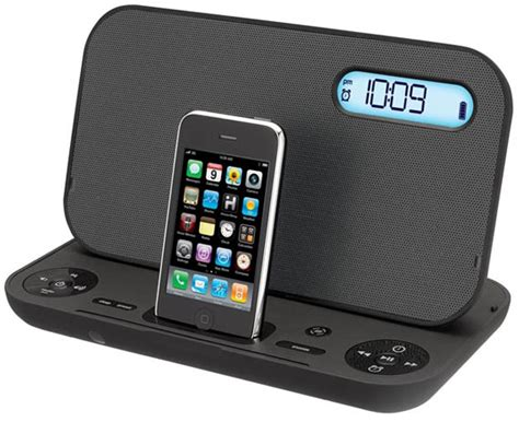 Iboom Travel Ipod Alarm Clock Radio by Ihome Ip49 Iphone Ipod Dock Cool Material