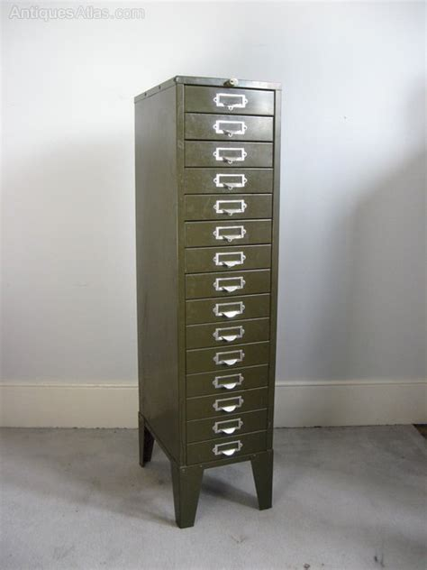 Antiques Atlas   Vintage Metal Green Filing Cabinet By Howden