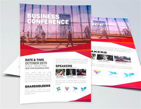 business conference flyer template corporate flyers