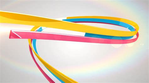 ribbon logo reveal after effects project videohive 3d ribbons logo reveal