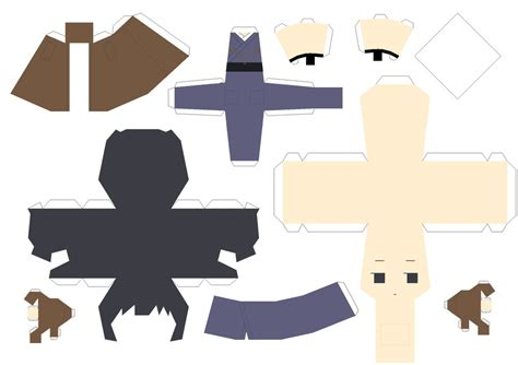 Japan Papercraft - kimono japan papercraft by arcelian on deviantart