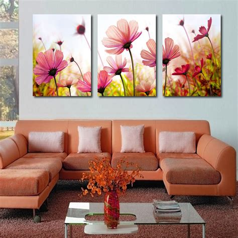 living room canvas modern abstract palette knife poppies flower oil painting