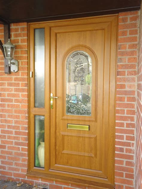 golden oak doors composite door screen in golden oak installed by