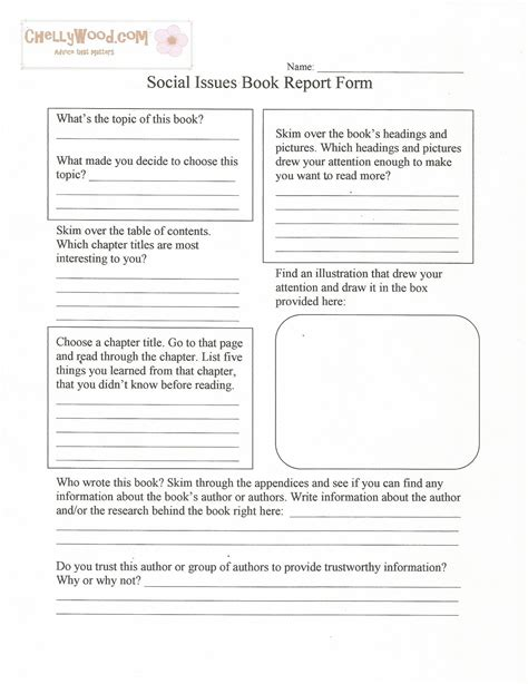 fiction book report form nonfiction reading the emporium page 2
