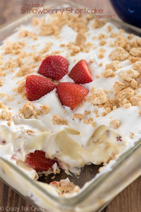Baked Desserts by No Bake Strawberry Shortcake Dessert Recipe Strawberry