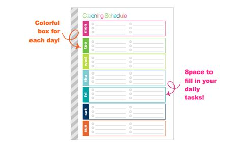 printable housekeeping planner clean life and home free printable weekly cleaning